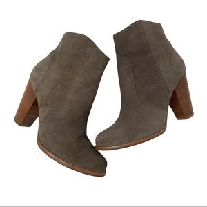 Joie Dalton Genuine Suede Booties Taupe Size 37